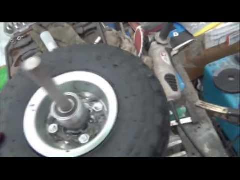 Cheap Drift trike wheels 3 (Barrow wheel mod 2 (add motorbike bearings and strengthen)