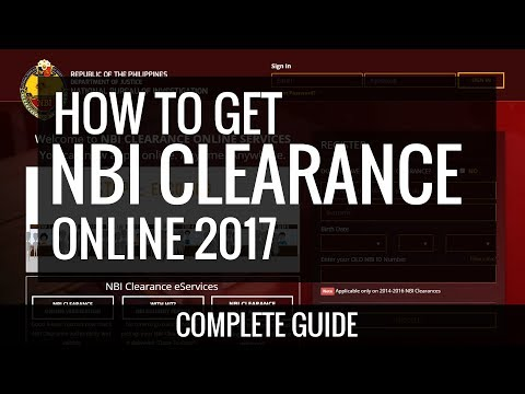NBI Clearance Online Application 2017