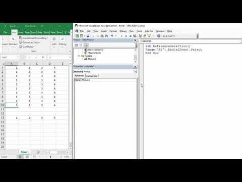 Select to the Last Row or Column With  Data in Excel using VBA Macro