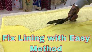 FIX LINING IN LADIES KURTI With Easy Method  | Lining Suit Stitching | (Punjabi) #23