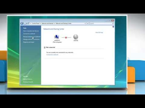 Windows® Vista: How to connect to the Internet?