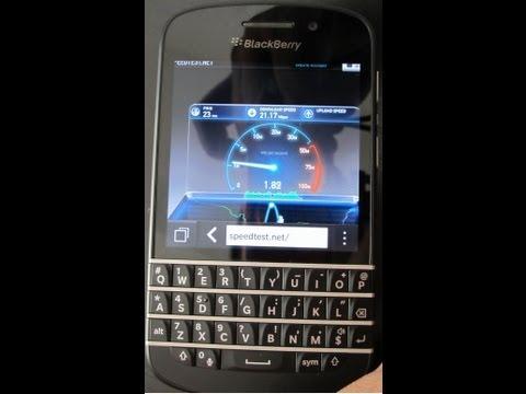 Blackberry Q10 LTE speed test download/upload(MUST WATCH!!!)