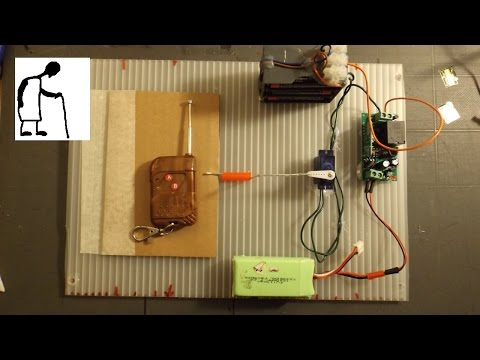 RC Door Lock using a modified servo for DC working
