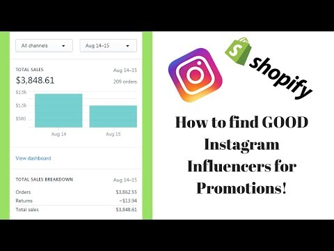 How to find GOOD Instagram Influencers for your Shopify Store!