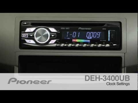 How To - DEH-3400UB - Setting the Clock