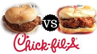 chick fila original vs spicy sandwich taste test versus