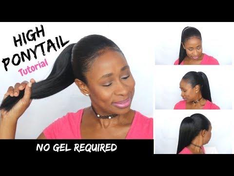 high ponytail | short hair tutorial