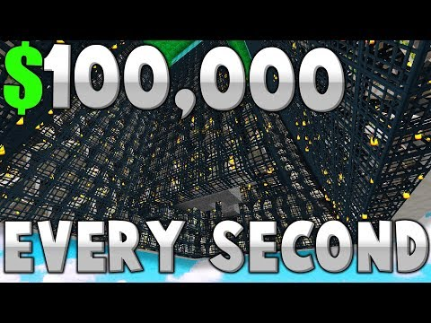 THiS EMERALD iRON GOLEM FARM GLiTCH MAKES $100,000 EVERY SECOND!! ( Minecraft Skyblock )
