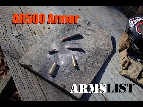 AR500 Armor Front Plate VS. 458 SOCOM and others