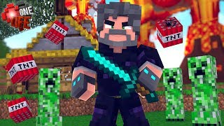 OBSIDIAN ARMOR IS CREEPER-PROOF!! | Minecraft: One Life [#2]