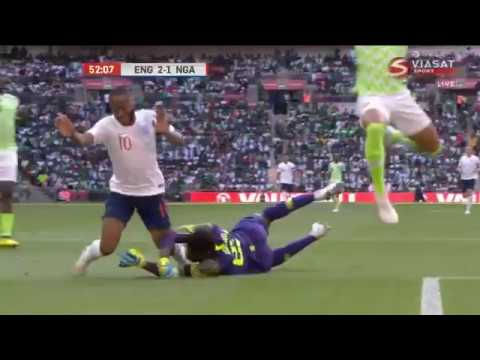 raheem sterling dive.Sterling gets a yellow card for diving against Nigeria in a friendly