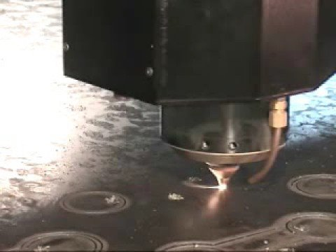 Laser Cutting 1 inch Plate Steel on a Cincinnati CL-850