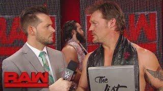 "Chris Jericho puts Elias Samson on ""The List"": Raw, April 17, 2017"