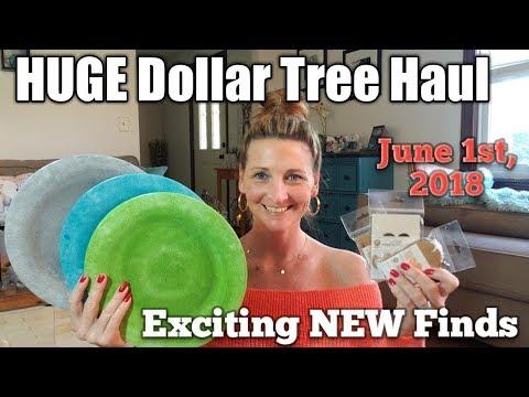 HUGE Dollar Tree Haul 💖 Exciting NEW Finds💖  June 1st, 2018/ Bonus footage