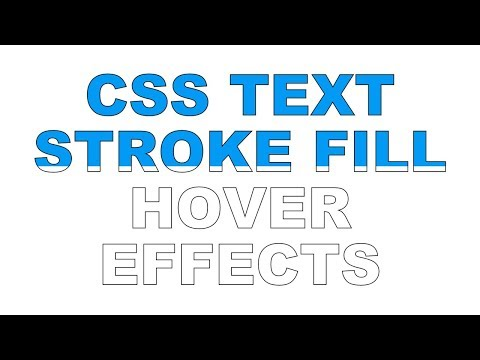 CSS Text Stroke Fill Hover Effects   Html CSS
