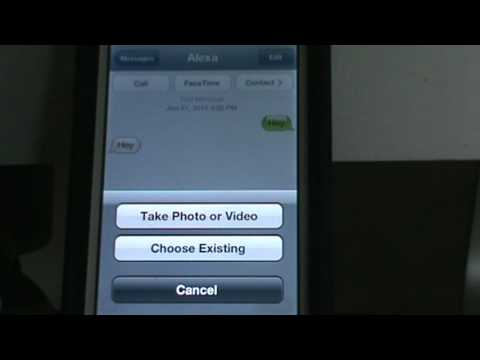How to Attach a Picture to a Text Message on the iPhone