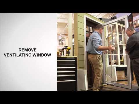 Ventilating Window Replacement on Andersen® Full-Lite Self-Storing Storm Doors