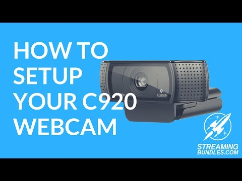 How to Setup Your Logitech C920 Webcam