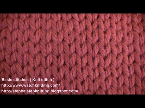 Stokinett Stitch- (knit Stitch) - watch knitting - lesson 2 - learn how to knit basic stitches