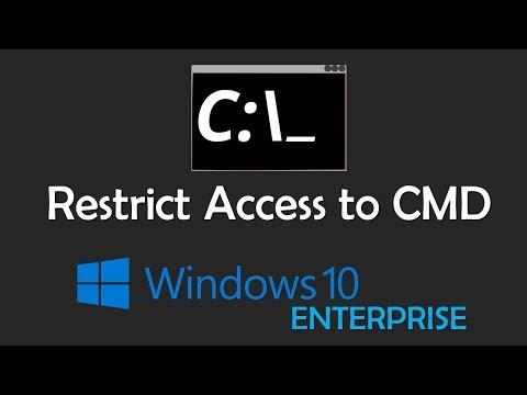 Restrict Access to CMD | Windows 10 Enterprise