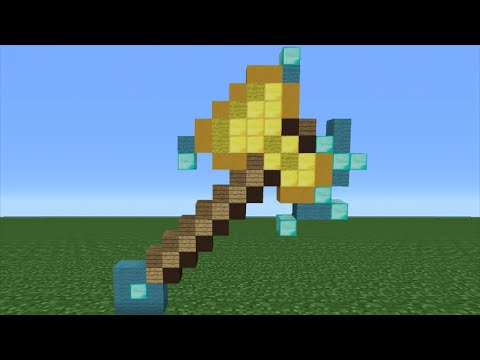Minecraft Tutorial: How To Make An Enchanted Diamond Axe (Minecraft Story Mode)