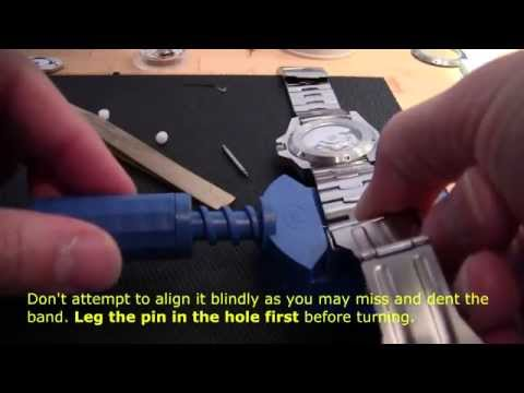 How to resize a stainless steel watch band