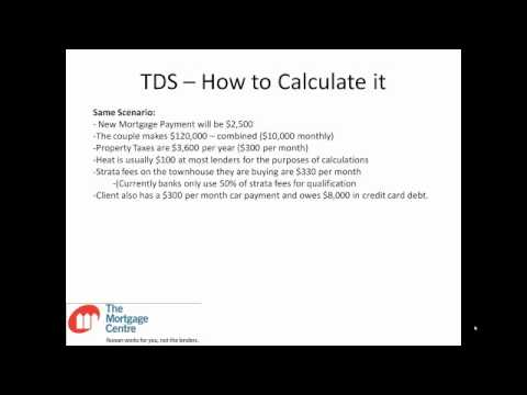Debt Servicing - How to Calculate GDS and TDS Ratios