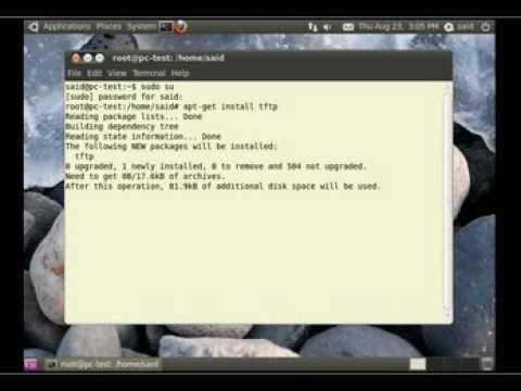 How to configure TFTP-HPA Server on ubuntu