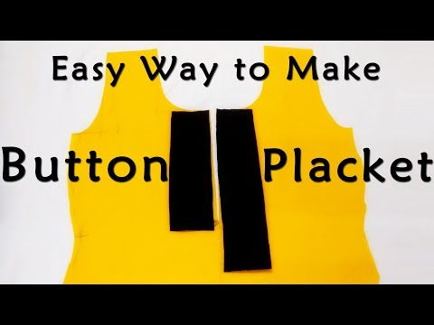 DIY Button Placket | Easiest Way to Make Button Placket for Tops, Dresses, Kurtis
