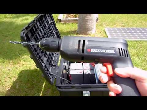 DIY Emergency Portable Solar Generator