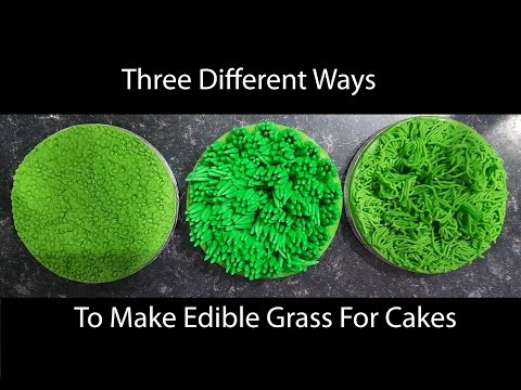 Edible Grass Techniques for Cakes