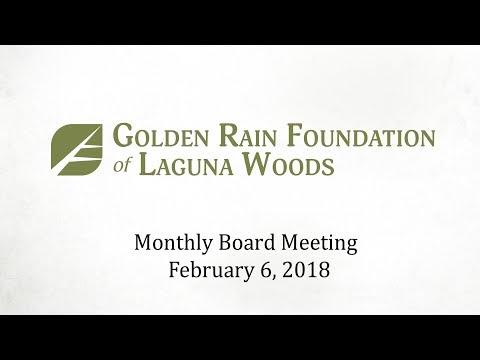 GRF Meeting February 6, 2018