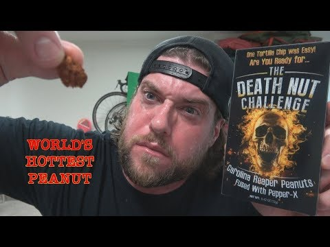 What It's Like To Eat The World's Hottest Peanut (Carolina Reaper & Pepper X) #DeathNutChallenge