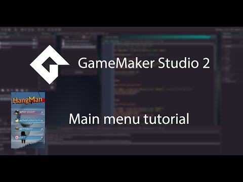 GMS 2 Basic main menu with hover effects beginner tutorial