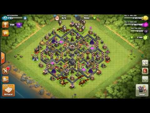 Clash of Clans HOW TO GET DARK ELIXIR FAST TH8/9 After  new update May 2016-Episode 2