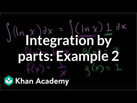 Integration by parts: ºln(x)dx | AP Calculus BC | Khan Academy