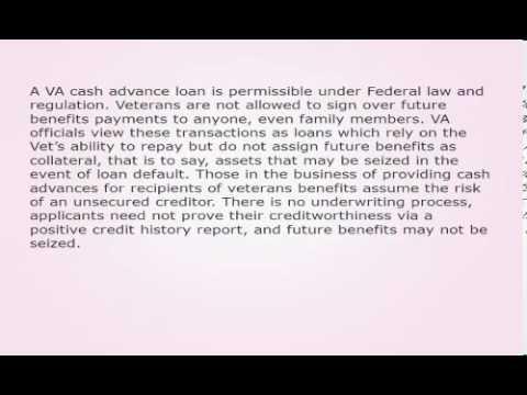 Direct Deposit Cash Advances For Recipients Of Veterans Benefits 190