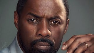 Portrait of Idris Elba in Procreate
