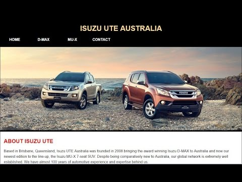 Part 1/3 - Make an Isuzu Website Using HTML/CSS