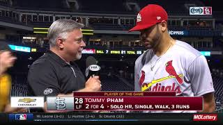 Pham finds it 'tough' to believe his monster homer only went 440ft