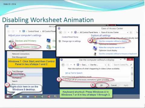 Disable Excel 2013 Animation