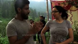 Woman receives therapeutic massage in Indian Himalaya