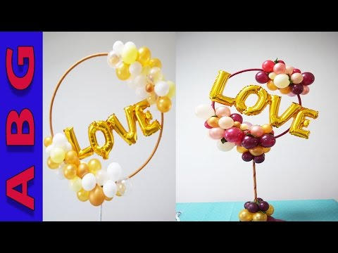 DIY Organic balloon centerpiece/ arch tutorial- Great anniversary decor idea