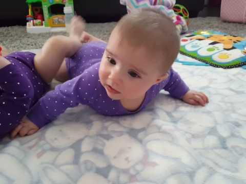 TummyTime!™ Method:  pushing up with arms