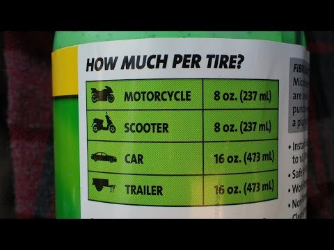 Slime Tire Sealant In Motorcycle Tires