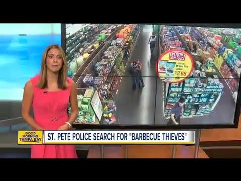 St. Petersburg police search for 'barbecue thieves'