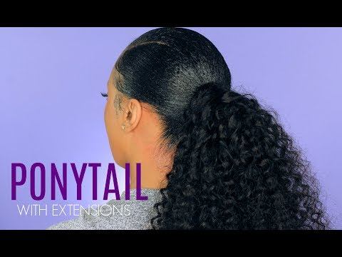 How To: Sleek Ponytail With Weave   Protective Style   BEAUTY FOREVER HAIR