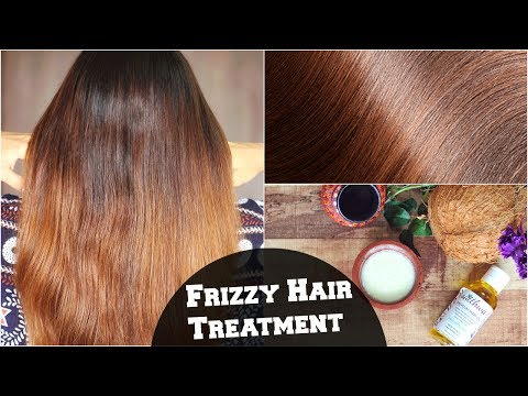 Frizzy Hair Treatment For Dry & Damaged Hair Naturally At Home / Get Shiny, Silky, Smooth Hair