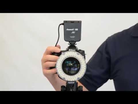 CowboyStudio Aputure Amaran Halo 100 LED Ring Flash Light for Canon & Nikon