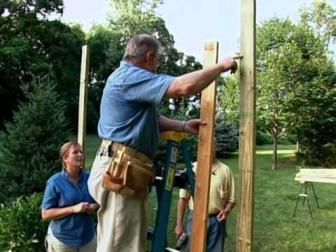 How to Build a Wood Arbor for Garden or Yard